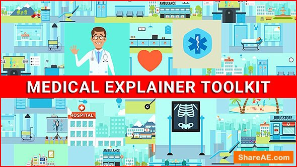 Videohive Medical Explainer Toolkit - Healthcare Pack