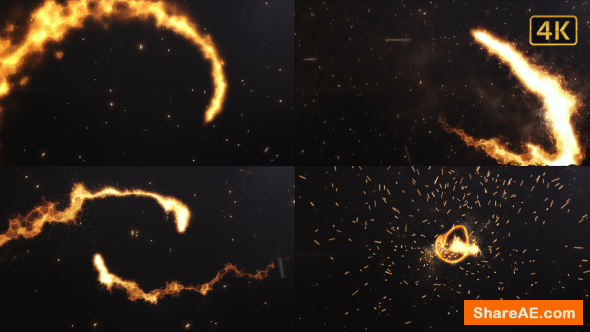 Videohive Fire Logo Cinematic
