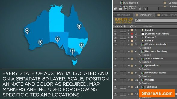 Videohive Australia Map Kit