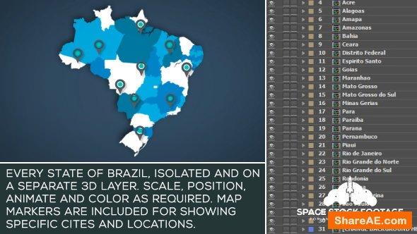 Videohive Brazil Map Kit