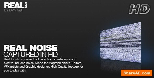 Videohive REAL NOISE pack - Motion Graphics