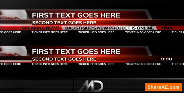 Videohive Broadcast News Lower Thirds