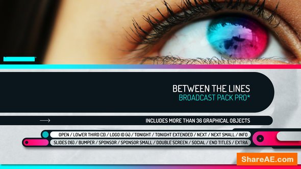 Videohive Between the Lines - Broadcast Pack Pro