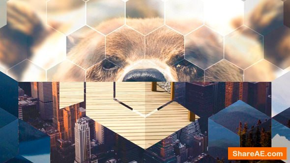Videohive 35 Hexagonal Glossy Transitions