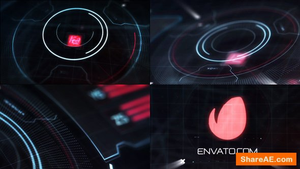 Videohive Hi-Tech HUD Logo Reveal 18087339