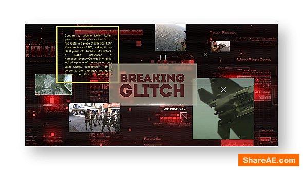 Videohive Breaking Glitch Presentation Slideshow