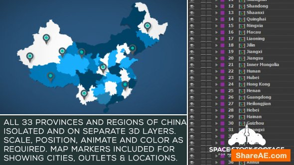 China Map Kit 17854136 Videohive