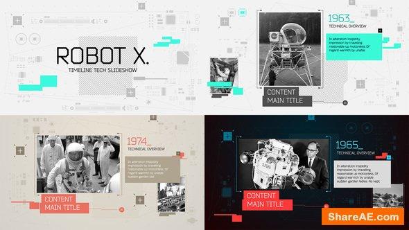 Robot X. Timeline Slideshow 15994369