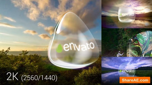 Videohive Glass Logo And Transitions