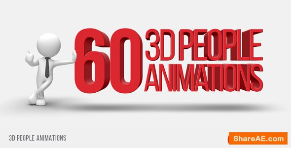Videohive 3D People Animations