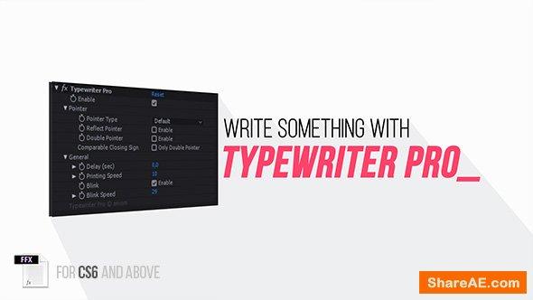 Videohive Typewriter Pro