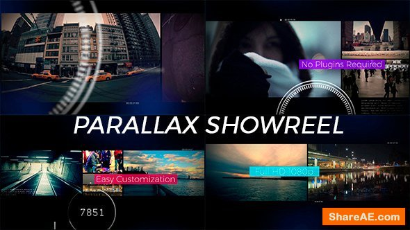 Videohive Parallax Footage Reel