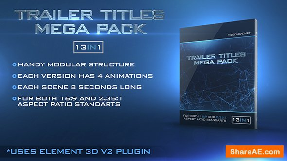 Videohive Trailer Titles Pack