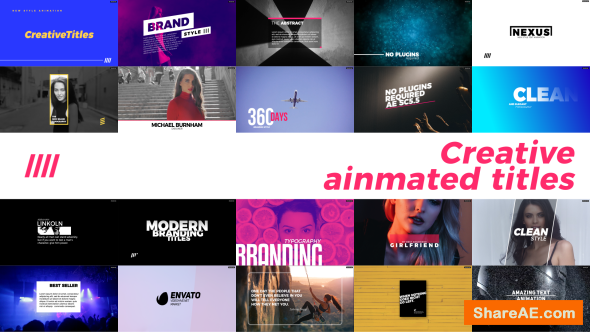 Videohive Creative Animated Titles