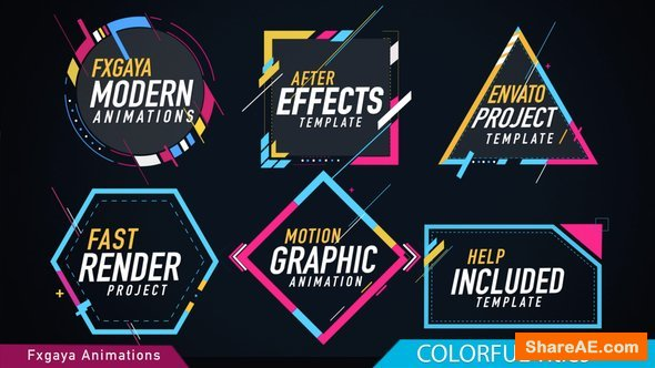 Videohive Colorful Titles 22009789