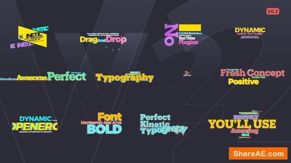 Videohive Kinetic Text V2