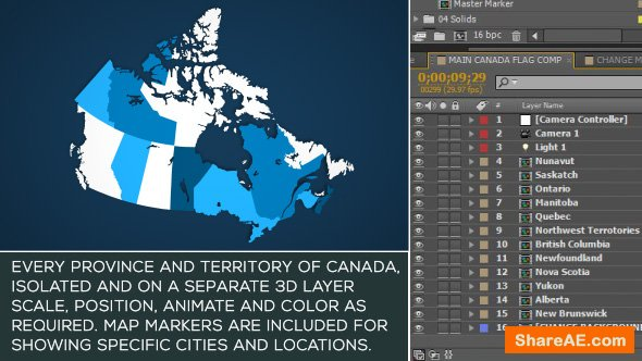 Videohive Canada Map Kit