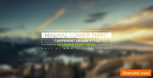 Videohive Minimal Lower Thirds 12237756