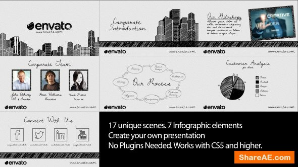 Videohive Sketch Corporate Video Pack