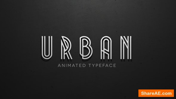 Videohive Urban - Animated Typeface