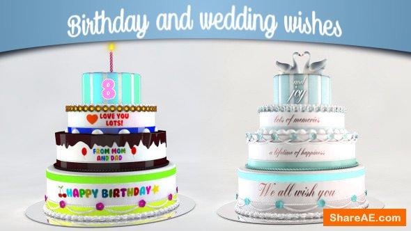 Videohive Birthday and Wedding Wishes