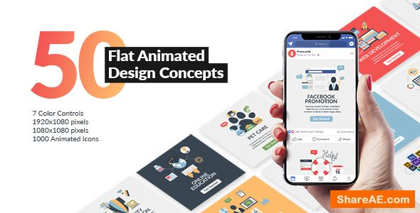 Videohive Flat Animated Design Concepts