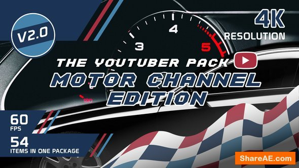 Videohive The YouTuber Pack - Motor Channel Edition V2.0