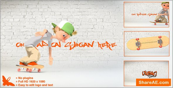 Videohive Urban Skate Logo