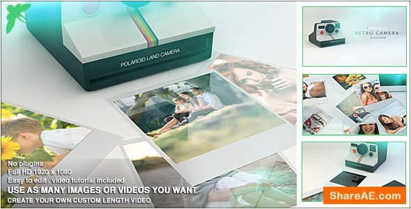 Videohive Retro Camera Slideshow