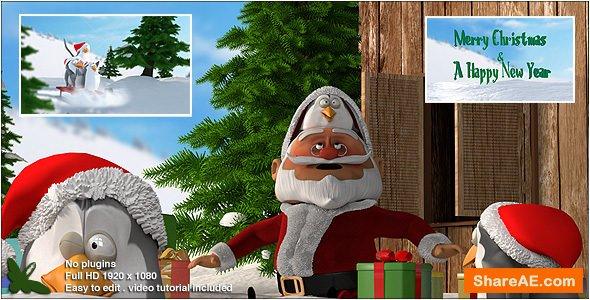 Videohive Christmas Penguins V2