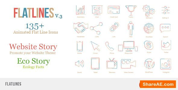 Videohive Flat Lines
