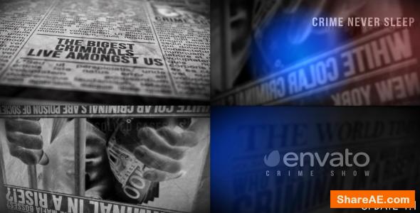 Videohive Newspaper, Crime Show