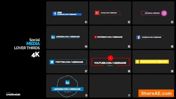 Videohive Social Media Lower Thirds - Premiere Pro