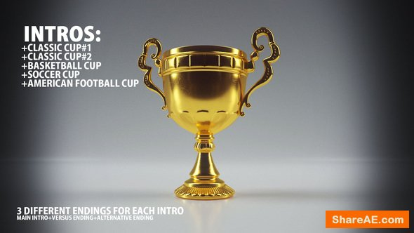 Videohive Solid Sport Trophy Intro (Opener)