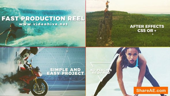 Videohive Fast Production Reel