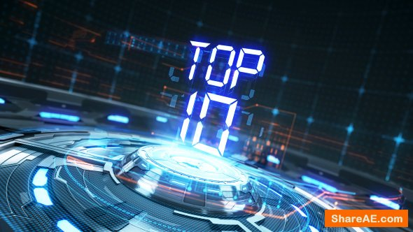Videohive Top 10 Countdown Transitions