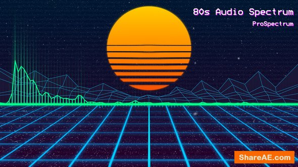 Videohive 80s Audio Spectrum