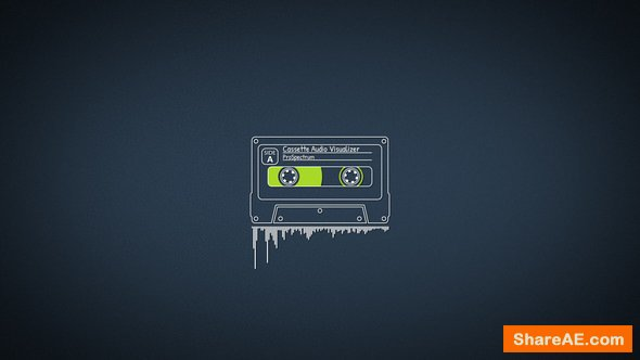 Videohive Cassette Audio Visualizer