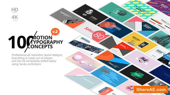 Videohive 100 Motion Typography Concepts v2