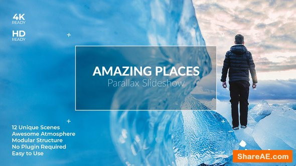 Videohive Amazing Places Parallax SlideShow