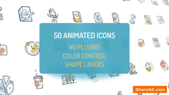 Videohive Animated Flat Icons