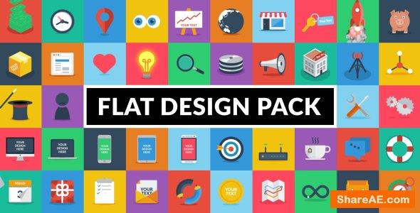 Videohive Flat Design Pack