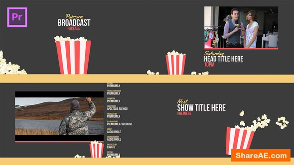 Videohive Popcorn Broadcast Package Essential Graphics | Mogrt