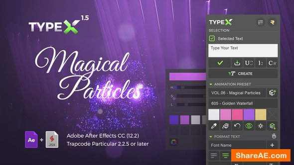 Videohive TypeX - Text Animation Tool | Magical Particles Pack: Handwritten Calligraphy Titles