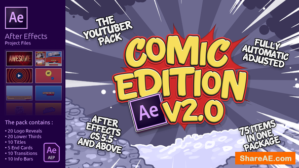 Videohive The YouTuber Pack - Comic Edition V2.0