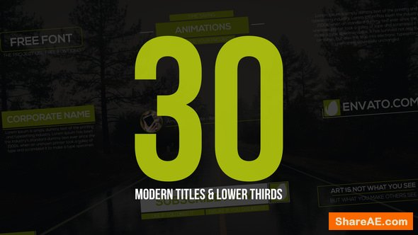 Videohive 30 Modern Titles & Lower Thirds