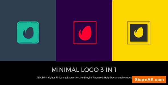 Videohive Minimal Logo 3 In 1