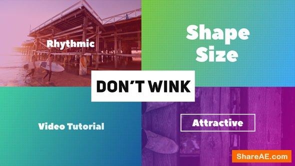 Videohive Don't Wink - Typographic Intro
