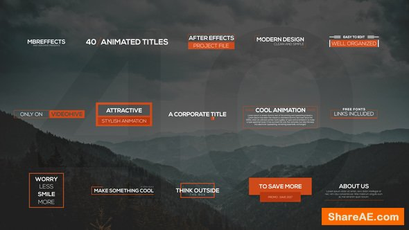 Videohive 40 Modern Titles & Lower Thirds
