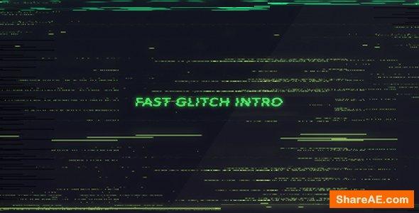 Videohive Fast Glitch Intro